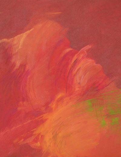 Nieobojętny, 2018, olej-płótno, 90x90 cm