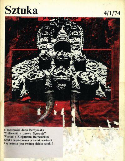 SZTUKA okładka 1974.4