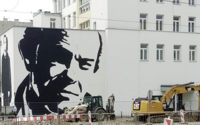 Mural Wilhelma Sasnala pamięci Jacka Kuronia